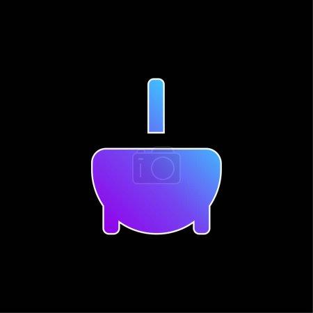 Bathtub blue gradient vector icon