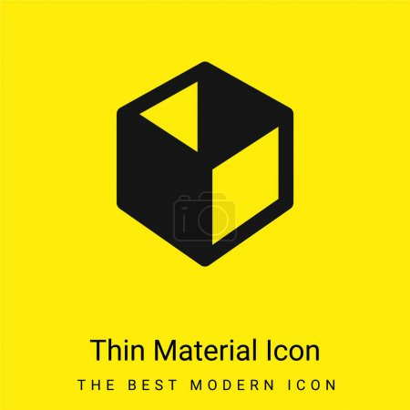 Illustration for Box minimal bright yellow material icon - Royalty Free Image