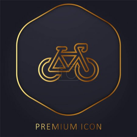 Illustration for Bicycle golden line premium logo or icon - Royalty Free Image