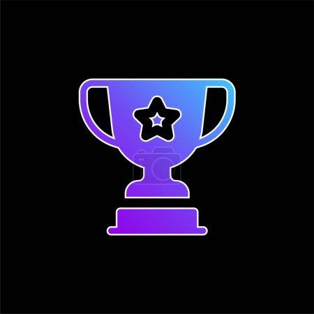 Illustration pour Award icône vectorielle dégradé bleu - image libre de droit