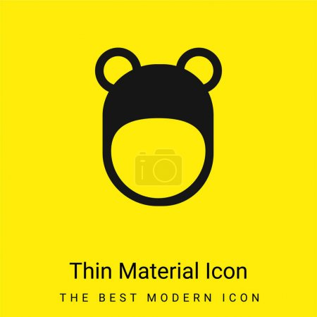 Illustration for Bear Hat minimal bright yellow material icon - Royalty Free Image