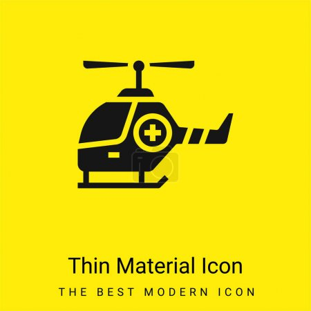 Illustration for Air Ambulance minimal bright yellow material icon - Royalty Free Image