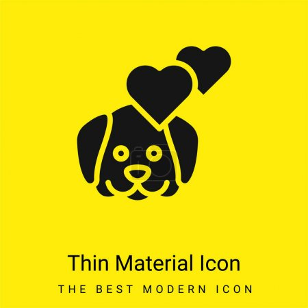 Illustration for Animal Therapy minimal bright yellow material icon - Royalty Free Image