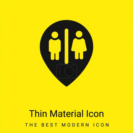 Baths Marker Point minimal bright yellow material icon