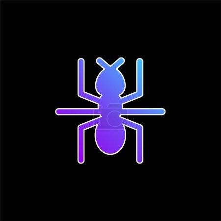 Photo pour Ant bleu gradient vecteur icône - image libre de droit