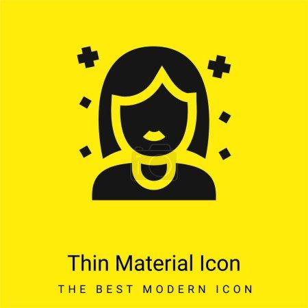 Birthday Girl minimal bright yellow material icon