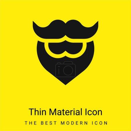 Illustration pour Barbe minime icône matérielle jaune vif - image libre de droit