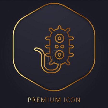 Illustration for Bacteria golden line premium logo or icon - Royalty Free Image
