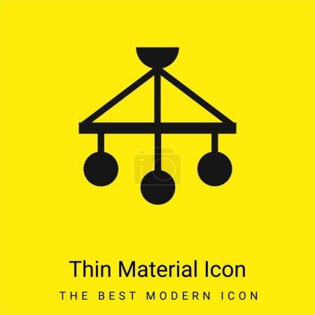 Bébé Mobile minime icône matérielle jaune vif