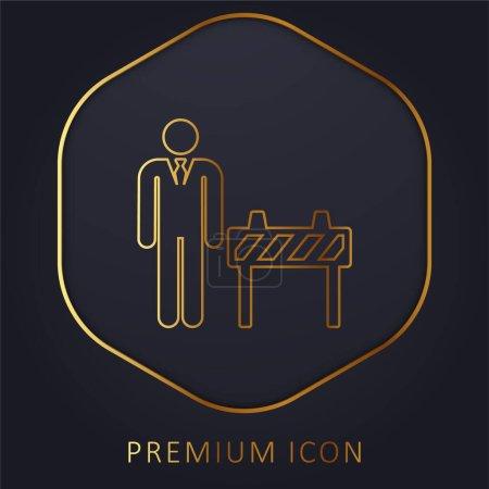 Illustration pour Patron ligne d'or logo premium ou icône - image libre de droit