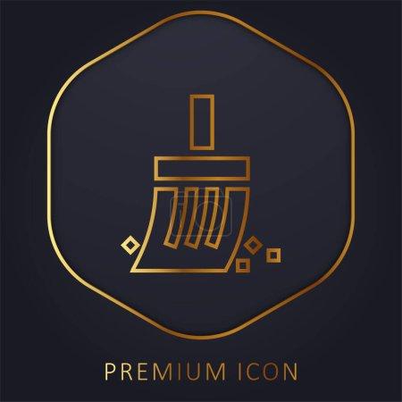 Illustration for Archeology golden line premium logo or icon - Royalty Free Image