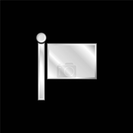 Black Flag silver plated metallic icon