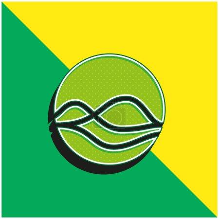 Photo pour Assistant Logo vectoriel 3D moderne vert et jaune - image libre de droit