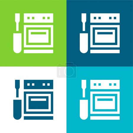 Illustration for Appliance Flat four color minimal icon set - Royalty Free Image