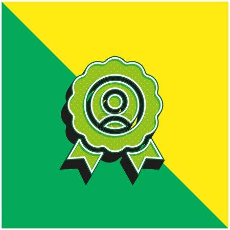 Illustration pour Meilleur employé vert et jaune moderne logo icône vectorielle 3d - image libre de droit