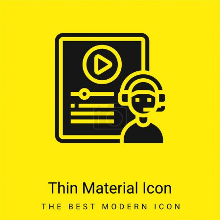 Illustration for Blended Learning minimal bright yellow material icon - Royalty Free Image