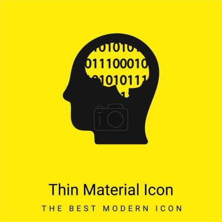 Binary Thinking minimal bright yellow material icon