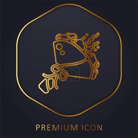 Photo pour Bouquet ligne d'or logo premium ou icône - image libre de droit