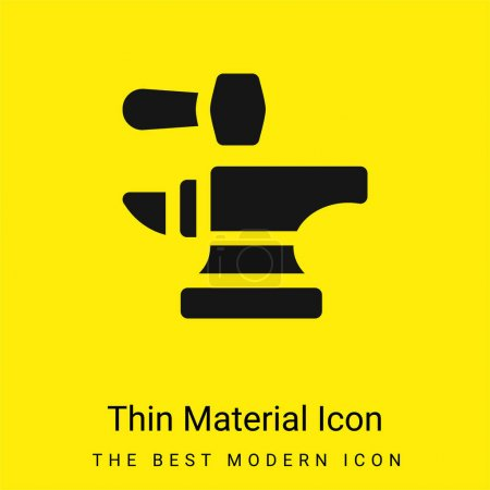 Photo pour Anvil minimal jaune vif icône matérielle - image libre de droit