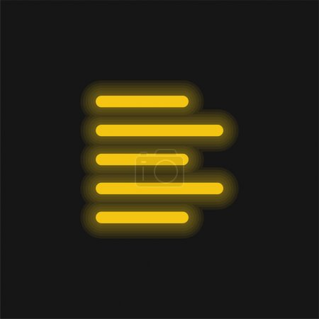 Align yellow glowing neon icon