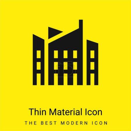 Photo pour Architecture minimale jaune vif icône matérielle - image libre de droit