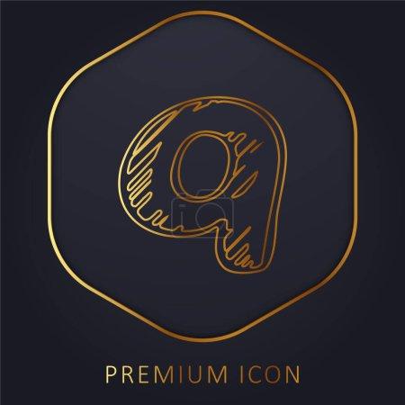 Illustration pour Demander Sketched Logo ligne dorée logo premium ou icône - image libre de droit