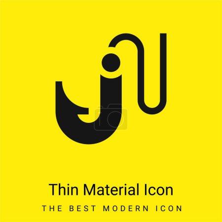Illustration pour Appât minimal jaune vif icône matérielle - image libre de droit