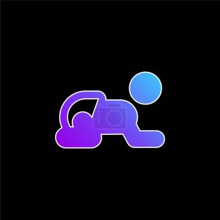 Baby blue gradient vector icon