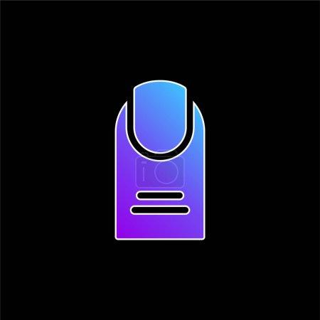 Illustration pour Big Finger icône vectorielle dégradé bleu - image libre de droit