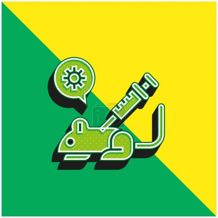 Illustration for Animal Testing Green and yellow modern 3d vector icon logo - Royalty Free Image