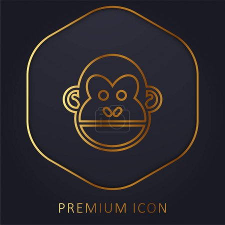 Animal golden line premium logo or icon