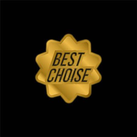 Illustration pour Meilleur choix Symbole commercial plaqué or icône métallique ou logo vecteur - image libre de droit