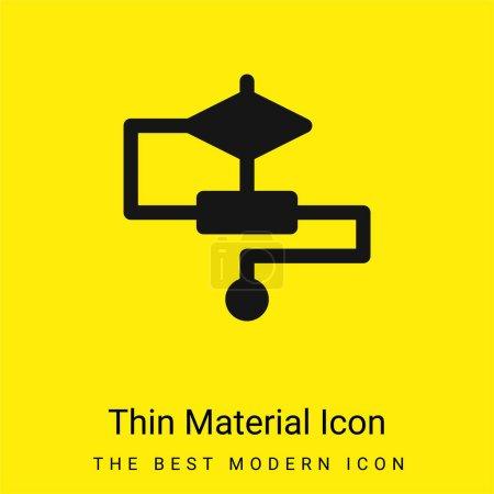 Photo pour Algorithme minimal jaune vif icône matérielle - image libre de droit