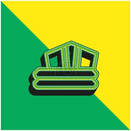 Illustration pour Robe de bain Logo vectoriel 3d moderne vert et jaune - image libre de droit