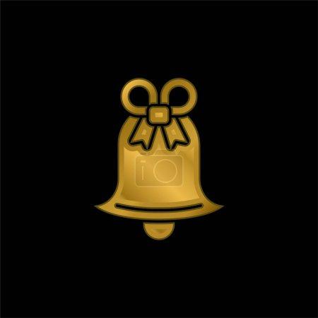 Illustration pour Icône métallique plaqué or Bell ou vecteur de logo - image libre de droit