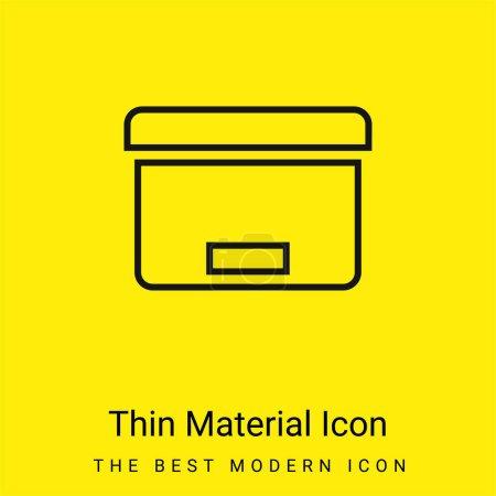 Illustration pour Outil de boîte pour l'icône matérielle jaune vif minimale d'organisation de bureau - image libre de droit