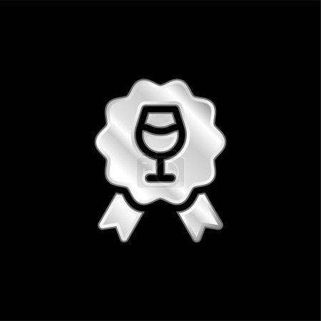 Illustration pour Prix icône métallique argentée - image libre de droit