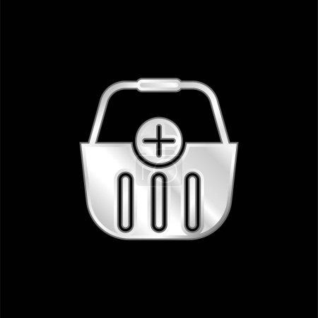 Photo pour Icône métallique argentée - image libre de droit