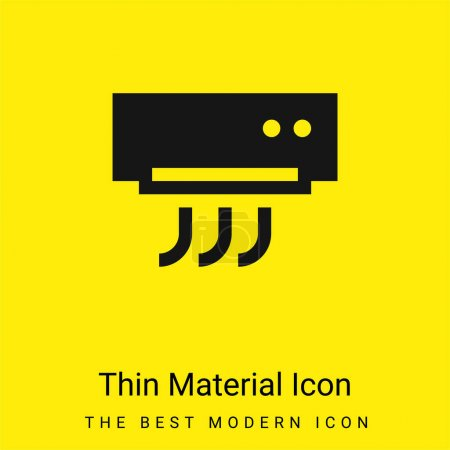Air Conditioner minimal bright yellow material icon