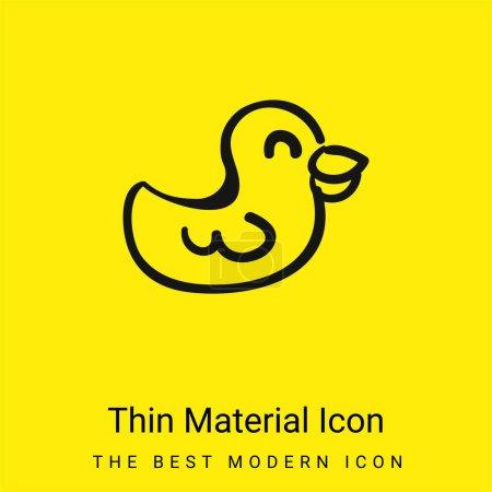 Illustration pour Jouet animal dessiné à la main Icône matérielle jaune vif minimale - image libre de droit