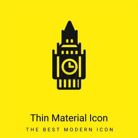 Illustration pour Big Ben minime icône matériau jaune vif - image libre de droit