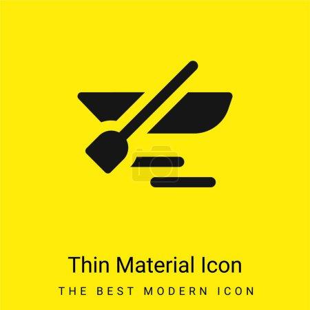 Illustration pour Bateau minimal jaune vif icône matérielle - image libre de droit