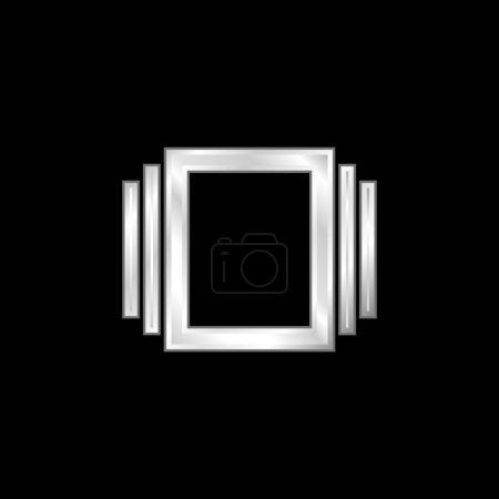 Illustration pour Albums icône métallique argentée - image libre de droit