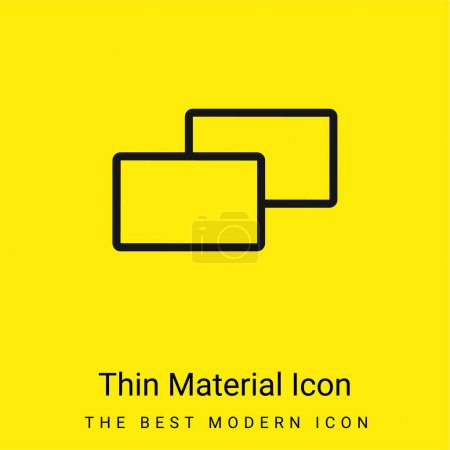 Photo pour Icône matérielle jaune vif minimale de 2 carrés - image libre de droit