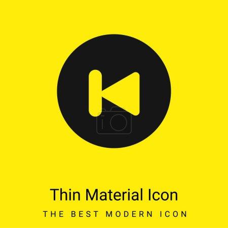 Illustration pour Icône matérielle jaune vif minimale arrière - image libre de droit