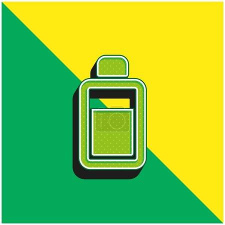 Body Lotion Grünes und gelbes modernes 3D-Vektorsymbol-Logo