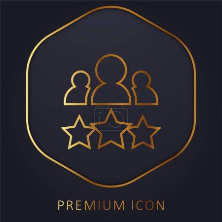 Illustration for Best Employee golden line premium logo or icon - Royalty Free Image