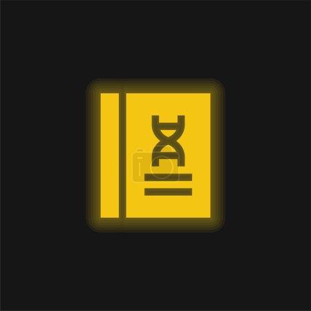 Photo pour Livre jaune brillant icône néon - image libre de droit