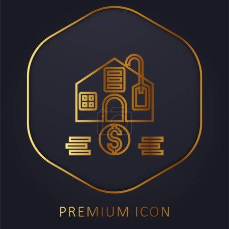 Illustration for Affordable golden line premium logo or icon - Royalty Free Image