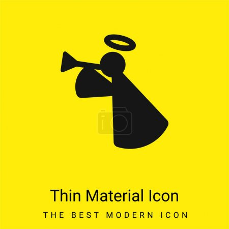 Illustration for Angel minimal bright yellow material icon - Royalty Free Image